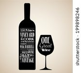 wine vintage themed seamless... | Shutterstock .eps vector #199898246