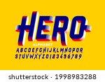 super hero style comics 3d font ...   Shutterstock .eps vector #1998983288
