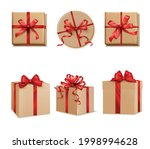 gifts presents square cube and... | Shutterstock .eps vector #1998994628