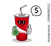 cartoon soft drink cola mascot  ...   Shutterstock .eps vector #1998998312