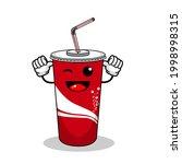 cartoon soft drink cola mascot  ...   Shutterstock .eps vector #1998998315