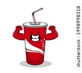 cartoon soft drink cola mascot  ...   Shutterstock .eps vector #1998998318