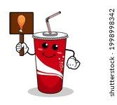 cartoon soft drink cola mascot  ...   Shutterstock .eps vector #1998998342
