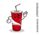 cartoon soft drink cola mascot  ...   Shutterstock .eps vector #1998998345