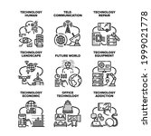 technology human set icons...   Shutterstock .eps vector #1999021778