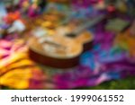 Blur Background Of Guitar On...