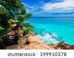 tropical beach. the seychelles | Shutterstock . vector #199910378