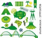 vector illustration of brazil. | Shutterstock .eps vector #199916936