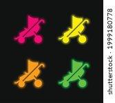 baby stroller four color... | Shutterstock .eps vector #1999180778