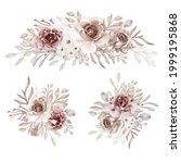 flower arrangement and bouquet...   Shutterstock .eps vector #1999195868