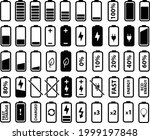 battery icons set on white... | Shutterstock .eps vector #1999197848