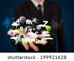 young business man in suit...   Shutterstock . vector #199921628