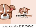 cute kawaii puppy dog mascot... | Shutterstock .eps vector #1999234865