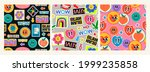 various patches  pins  stamps ... | Shutterstock .eps vector #1999235858