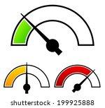 gauge  meter templates.... | Shutterstock .eps vector #199925888