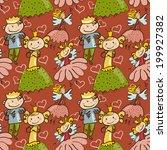 cute childlike seamless pattern ... | Shutterstock .eps vector #199927382