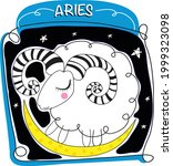 zodiac sign aries vector... | Shutterstock .eps vector #1999323098