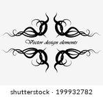 elegant frame banner  floral... | Shutterstock .eps vector #199932782