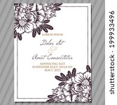 wedding invitation cards with... | Shutterstock .eps vector #199933496
