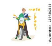 biker  rider character. moto... | Shutterstock .eps vector #1999363898