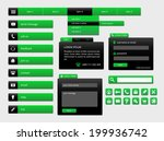 modern black and green web ui...