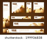 set of  web banners with... | Shutterstock . vector #199936838