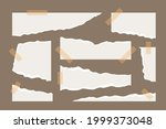 torn paper sheet collection....   Shutterstock .eps vector #1999373048