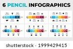 pencil chart infographics pack. ... | Shutterstock .eps vector #1999429415