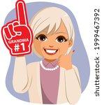 grandmother wearing red finger... | Shutterstock .eps vector #1999467392
