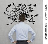 confused businessman because of ...   Shutterstock . vector #199947326