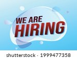 we are hiring word concept...