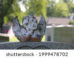Headstone With An Angel Statue