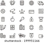 bank icons   Shutterstock .eps vector #199951166
