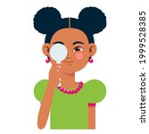children vision checkup in... | Shutterstock .eps vector #1999528385