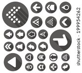 arrow icon set with shadow set c | Shutterstock .eps vector #199954262