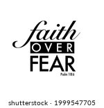 faith over fear typographic...   Shutterstock .eps vector #1999547705