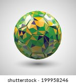 vector low poly style soccer... | Shutterstock .eps vector #199958246