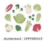 set of raw organic farm... | Shutterstock .eps vector #1999585415