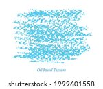 blue oil pastel or crayon... | Shutterstock .eps vector #1999601558