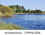 river landscape. spring in the... | Shutterstock . vector #199961306