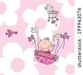 vector illustration of newborn... | Shutterstock .eps vector #199963076