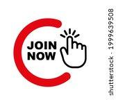 join now sign on white...   Shutterstock .eps vector #1999639508