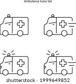 ambulance icons isolated on... | Shutterstock .eps vector #1999649852
