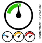 pressure gauge  dial template | Shutterstock .eps vector #199965602