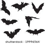 bats vector | Shutterstock .eps vector #19996564