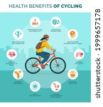 health benefits of cycling... | Shutterstock .eps vector #1999657178
