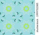summer branches elegant... | Shutterstock .eps vector #1999702385