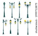 old street light pillar and...   Shutterstock .eps vector #1999713875