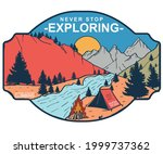 never stop exploring summer... | Shutterstock .eps vector #1999737362