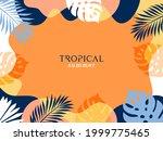 summer background with frame...   Shutterstock .eps vector #1999775465